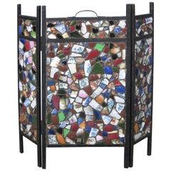 Tramp Art Mosaic American Fire Screen
