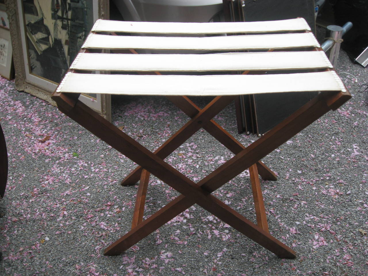 19th Century English Mahogany Butlers Tray Table For Sale 1