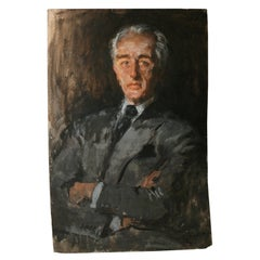 Oil Painting of Ivo Patcevitch-Conde Nast Founder, Attributed to Renee Bouche