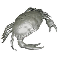 Cipolla Pewter Large Crab Caviar Dish and Spoon