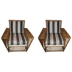 Vintage Four-Piece Stick Wicker Suite