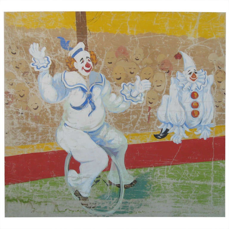 """71"""" Vintage Circus Banner Painting For Sale At 1stdibs"""