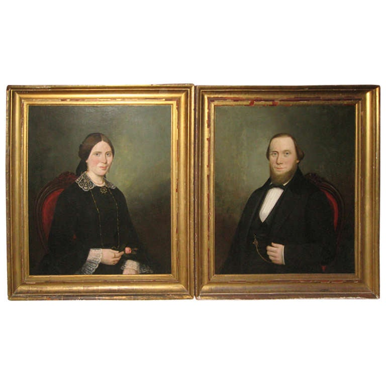 19th Century American Portraits For Sale