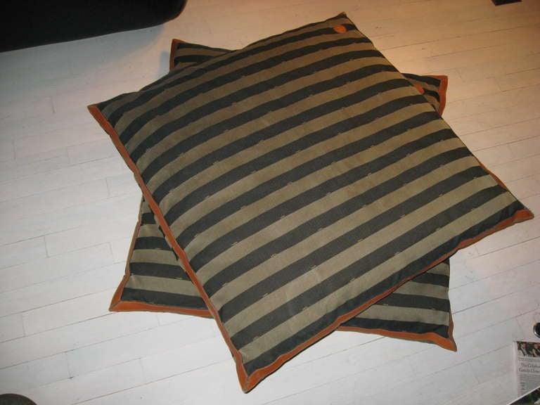 Oversized Animal Floor Pillows : Fendi Oversized Floor Pillows at 1stdibs