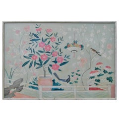 One of a Pair Stillife Oil Paintings with Birds