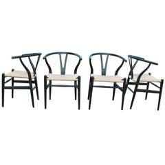 Four Wishbone Chairs by Hans Wegner