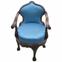 Italian 19th Century Swivel Armchair