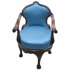 Italian 19th Century Swivel Armchair
