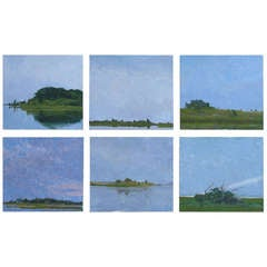 Set of Six Oil Paintings of Eastern Long Island by Wissemann