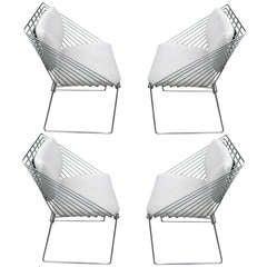 Verner Panton Mid-Century Modern Chrome Chairs