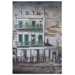 American Southern Street Scene Painting