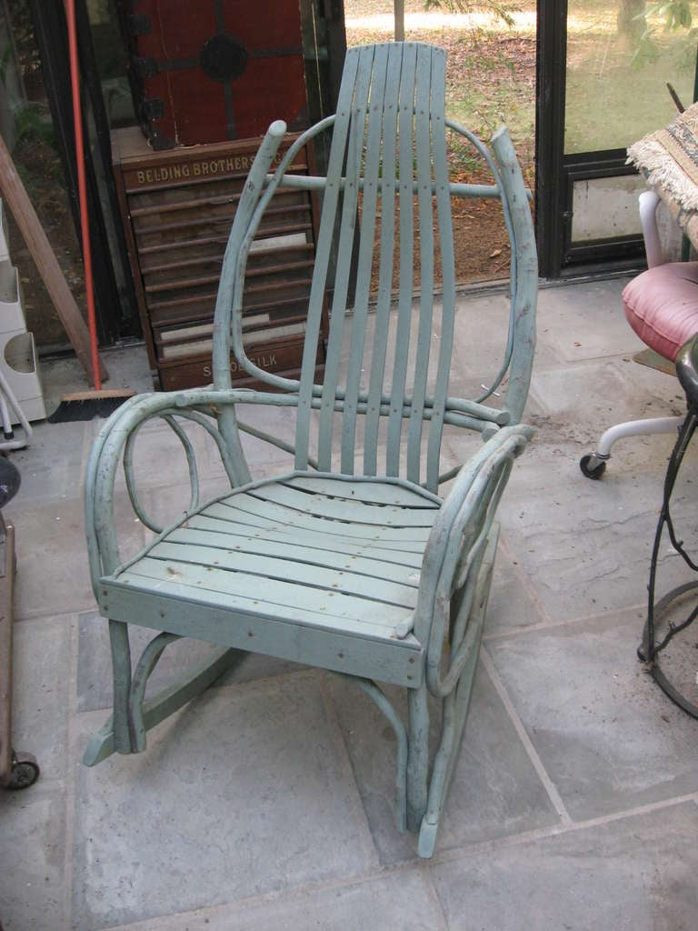 american twig adirondack rocking chair for sale at 1stdibs. Black Bedroom Furniture Sets. Home Design Ideas