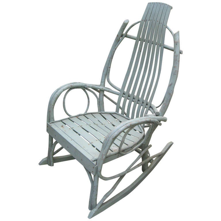American Twig Adirondack Rocking Chair at 1stdibs