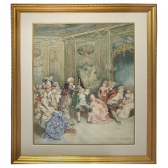 Ettore Simonetti 19th Century Watercolor Painting