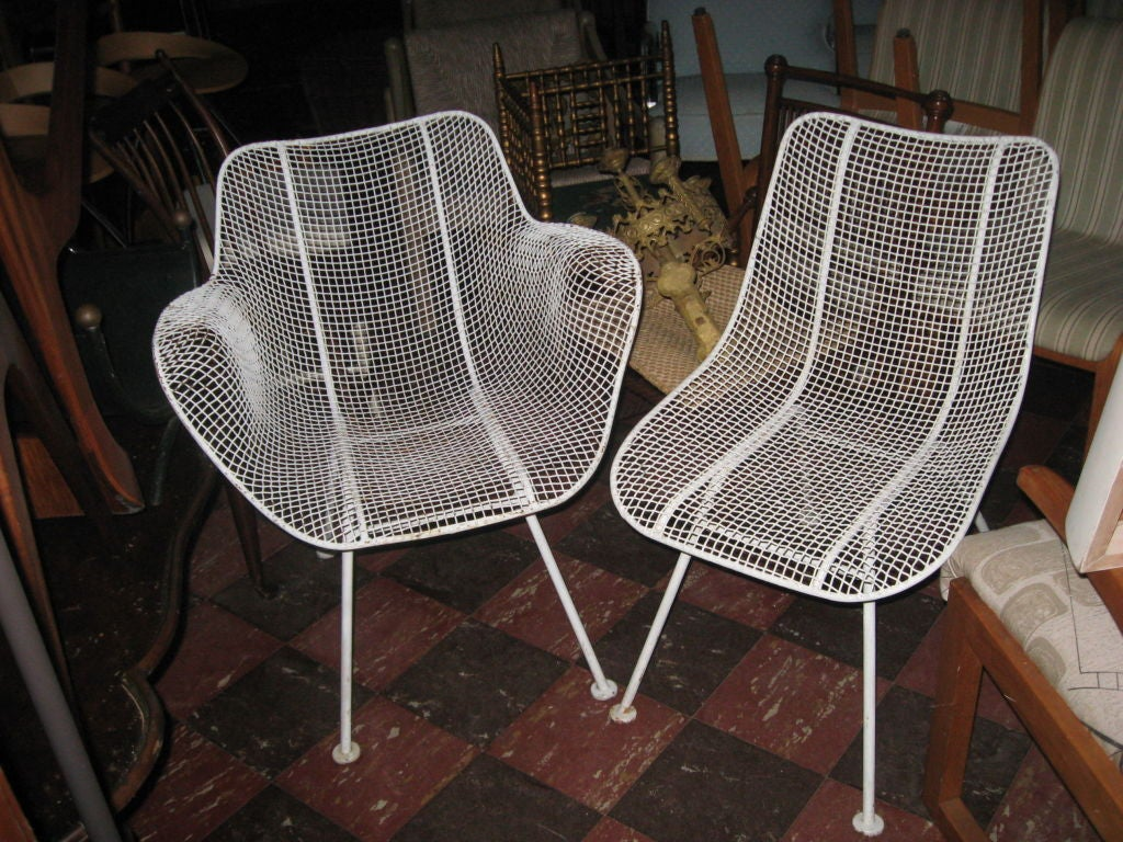 Large Set Of Vintage Russell Woodard Side And Arm Chairs