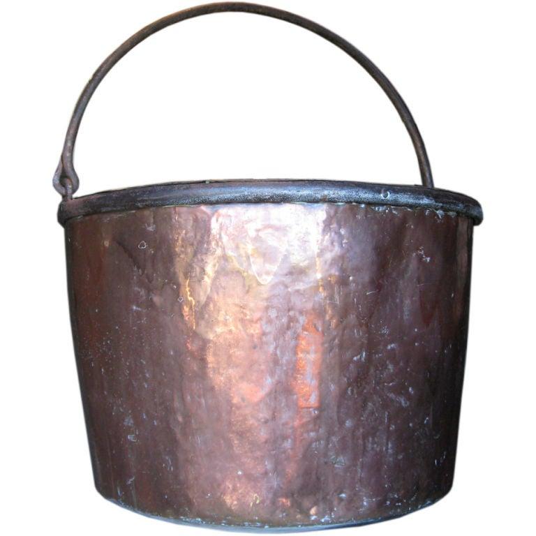 large vintage copper pot  log holder at 1stdibs antique copper fireplace tool set antique copper fireplace hood