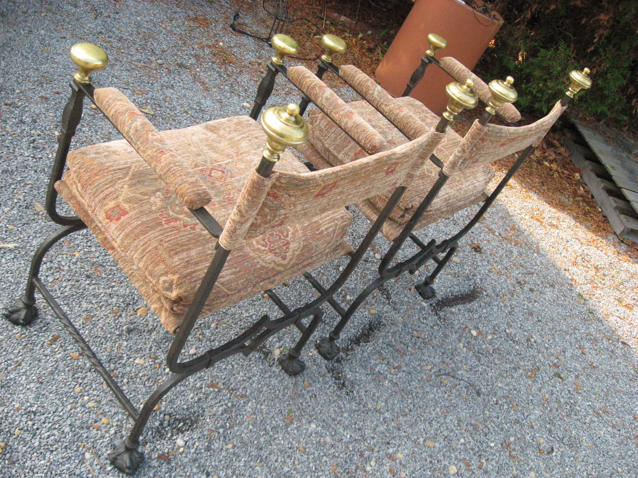 19th Century Italian Savonarola Chairs In Excellent Condition For Sale In Water Mill, NY