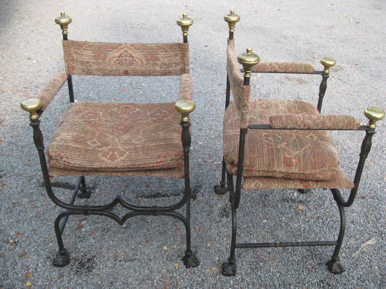 European 19th Century Italian Savonarola Chairs For Sale