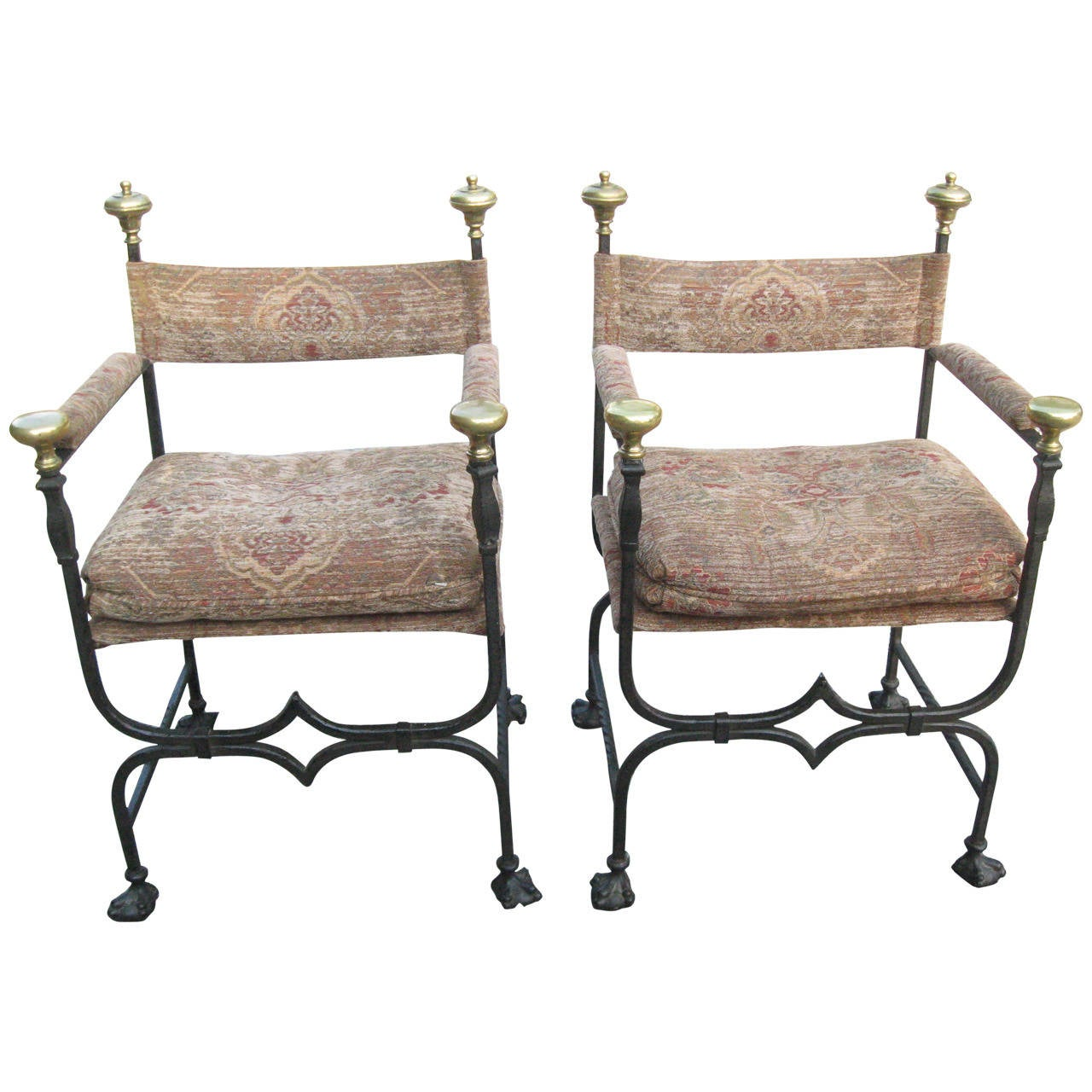 19th Century Italian Savonarola Chairs