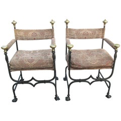 19th Century Italian Savonarola Chairs