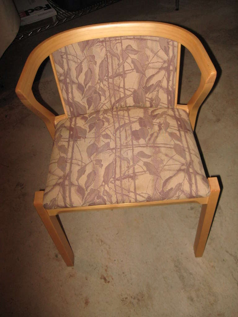 Alvar Aalto Dining or Game Table and Chairs In Excellent Condition For Sale In Water Mill, NY