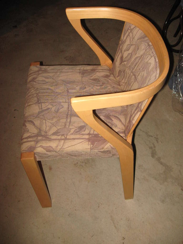 20th Century Alvar Aalto Dining or Game Table and Chairs For Sale