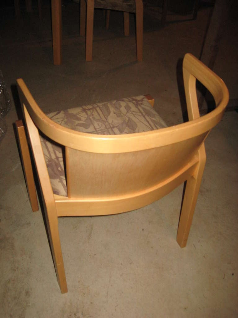 Upholstery Alvar Aalto Dining or Game Table and Chairs For Sale