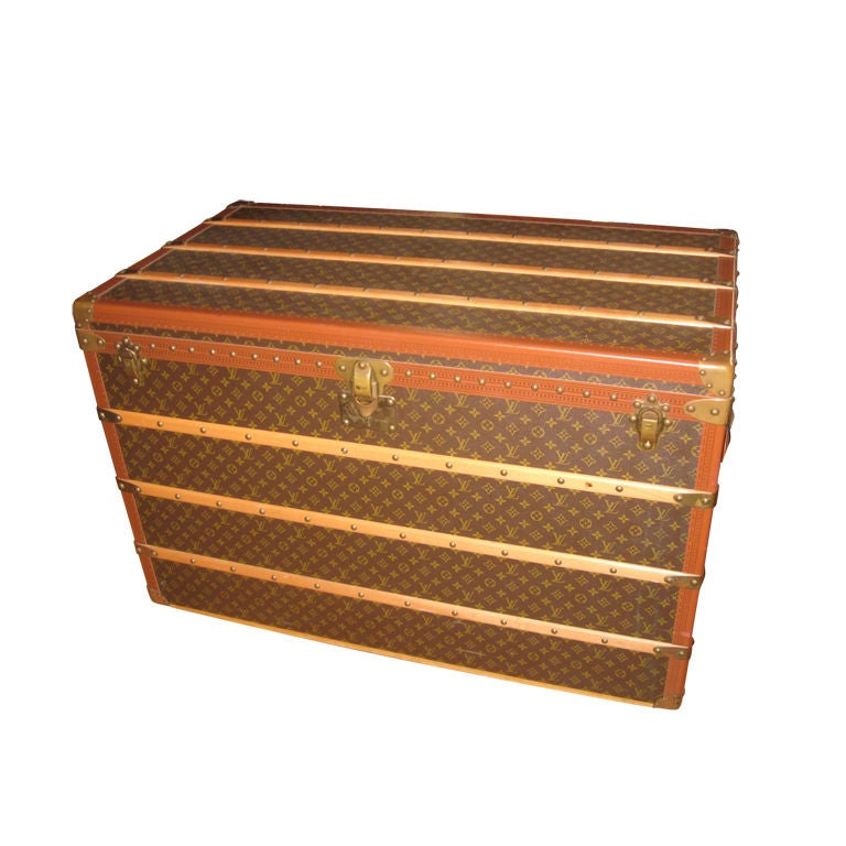 Louis Vuitton Courier Steamer Trunk For Sale