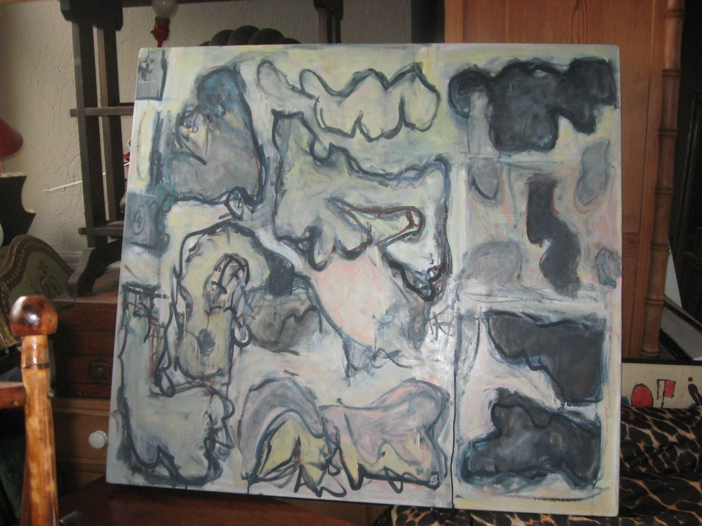 Abstract oil painting on canvas by Southampton listed artist  Russell Christoffersen.