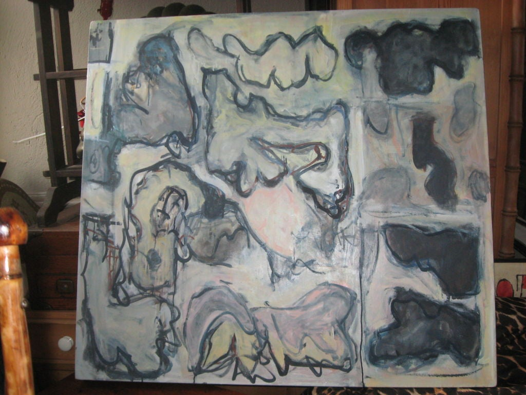American Abstract Oil Painting by Russell Christoffersen For Sale
