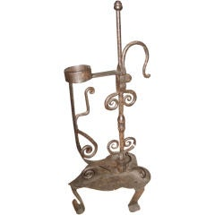 Adjustable Iron Hand Forged Candlestick