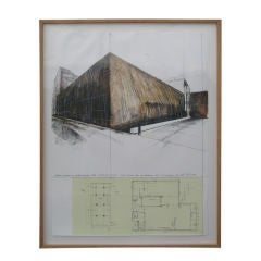 Christo 1970s Chicago Museum of Contemporary Wrap Lithograph