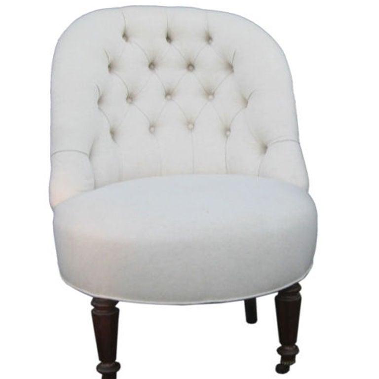 tufted slipper chair 1