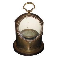 Brass Ship Compass Lamp