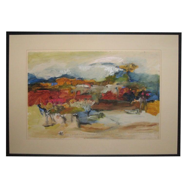 Semi Abstract Painting By Cecilia Garcia Amaro At 1stdibs