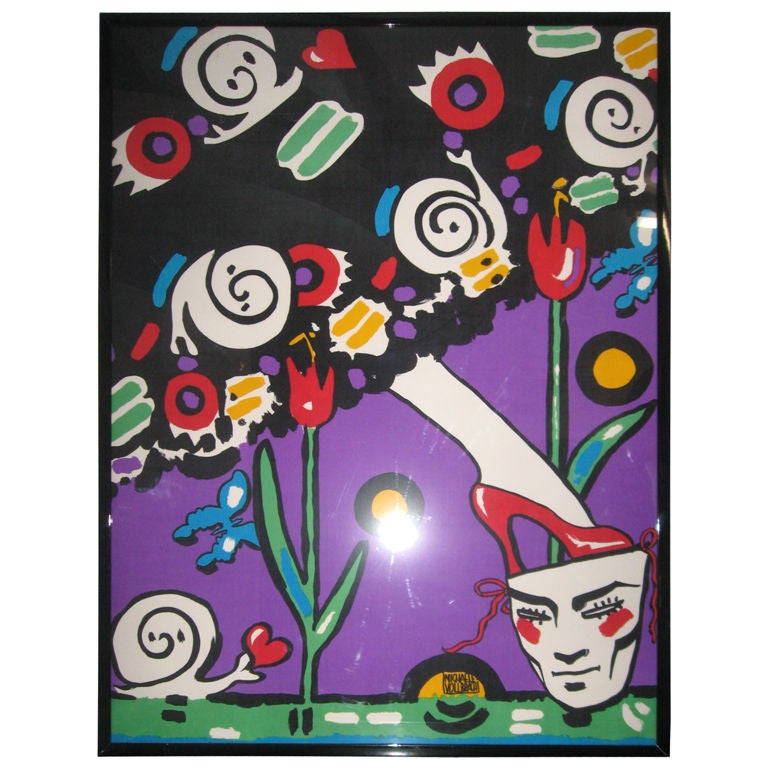 Michaele Vollbrach Original Silkscreen Painting