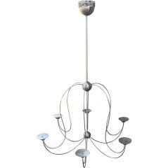 Modern Chrome Six-Arm Chandelier for Candles 60x43