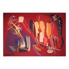Modernistic Aubusson Tapestry by Aviva Margalit