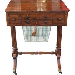 19thc Rosewood  Games / Work Table