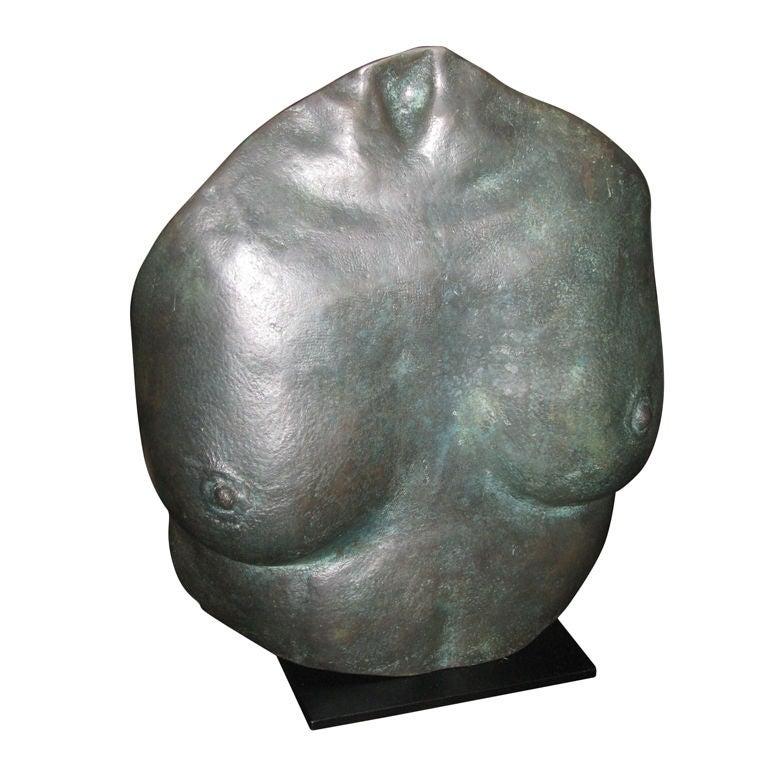Bronze Sculpture of Torso by K. Baine, 1984