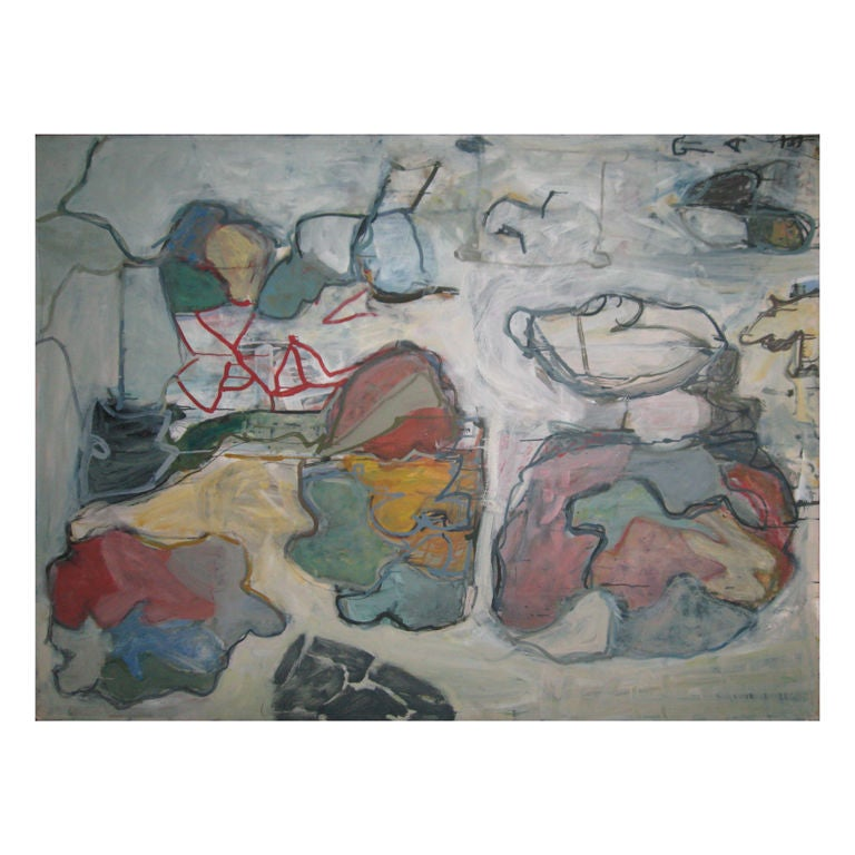 Abstract Oil Painting by Russell Christoffersen For Sale