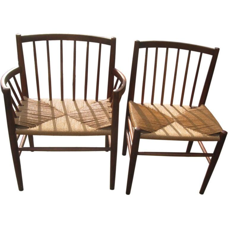 Midcentury Danish Modern Teak Dining Chairs by J. Baekmark