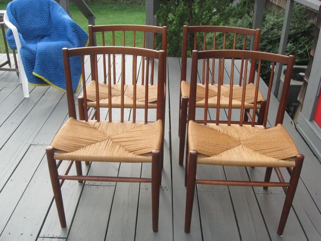 Mid-20th Century Midcentury Danish Modern Teak Dining Chairs by J. Baekmark