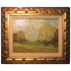 19th Century Landscape Oil Painting by W. Merritt Post
