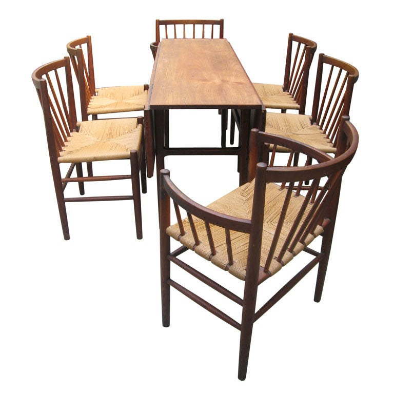 Jorgen Baekmark Mid Century Danish Modern Six Teak Dining Chairs For Sale At