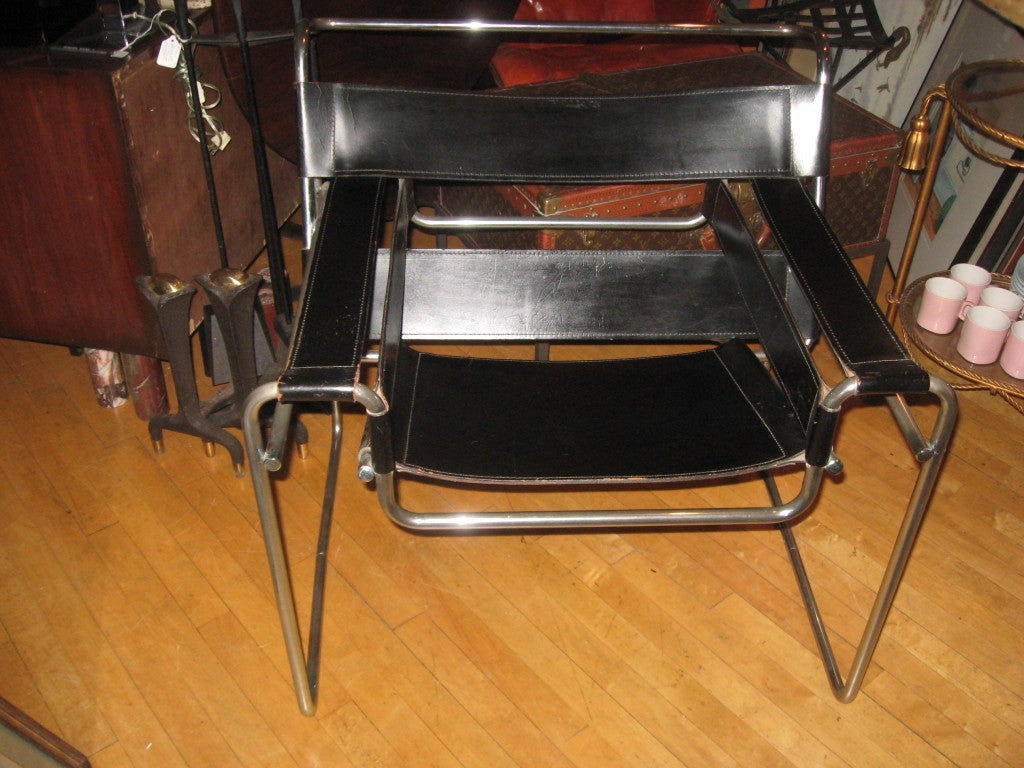 Pr of vintage marcel breuer wassily chairs at 1stdibs - Wassily chair price ...