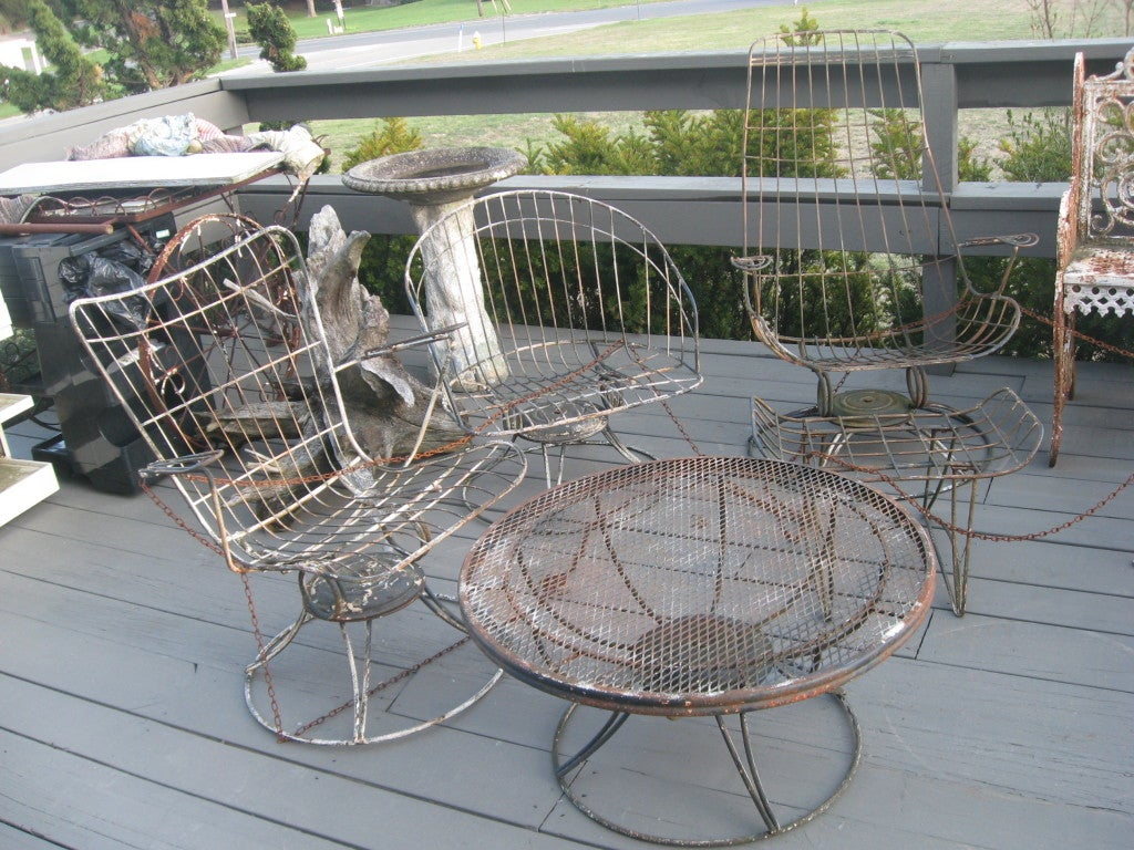 Mid century five piece garden furniture by homecrest at for Homecrest patio furniture