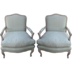 Pair of Louis XV Style Bergeres Chairs