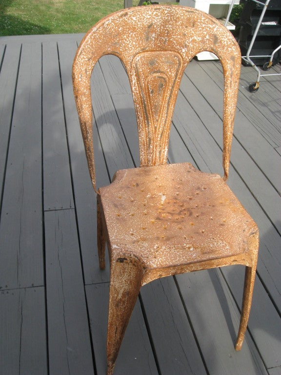 Mid-20th Century Midcentury Metal Game Table and Chairs For Sale