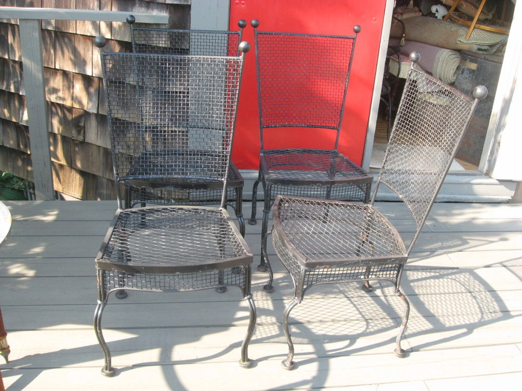 American Midcentury Set of Four Russell Woodard Chairs For Sale
